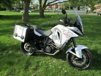 KTM Adventure 1290 touring motorcycle