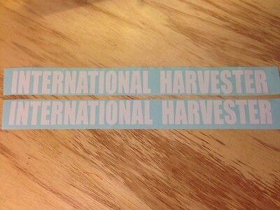 "2 -  15-1/4"" x 1-3/8"" INTERNATIONAL HARVESTER DECAL STICKER DIESEL TRUCK COLORS"