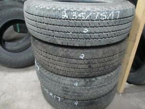 235/75R17 SET OF 4 USED HANKOOK A/S TIRES