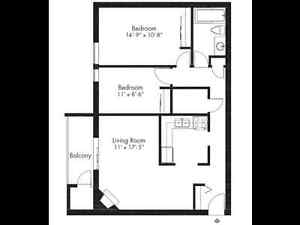 Private Balcony - 1, 2 & 3 bedrooms- Extra Storage!