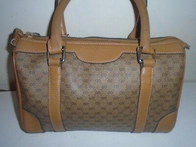 AUTH. VINTAGE & RARE 1970s GUCCI LOGO SPEEDY BAG PURSE $1,100USD RETAIL