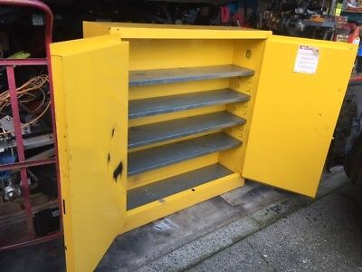 Hazmat Locker Justrite Model 25720 Big Metal Shop Cabinet