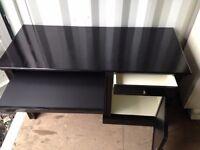 Large Black Desk ideal for Office, Bedroom, Living Room