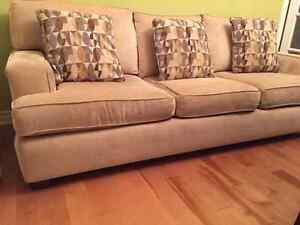 3 Seat Couch with pillows Beige