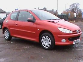 PEUGEOT 206 1.4 3 DR RED 1 YRS MOT,LOCAL CAR SUPPLIED BY US,CLICK ON VIDEO LINK TO SEE MORE OF IT