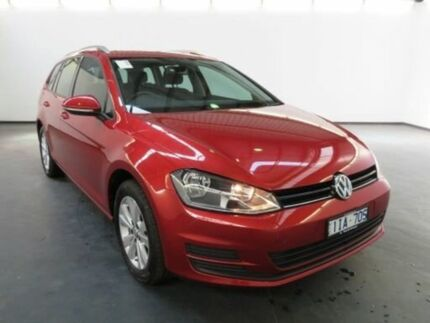 2016 Volkswagen Golf AU MY16 92 TSI Comfortline Sunset Red 7 Speed Auto Direct Shift Wagon Albion Brimbank Area Preview