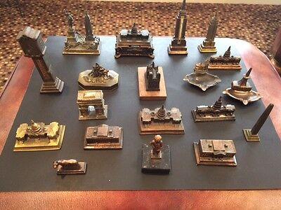 Vintage Cast Metal Miniature Monuments/Souvenir Buildings World Collection