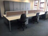 office furniture 1.6 meter white bench desking