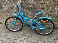 girls blue bicycle , almost new condition made by giant model taffy 225