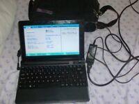 10.1 inch ergo inceptor 133 netbook 232 gig hdd 1.66ghz + power supply windows 7 +case pwo £65