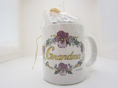 Grandma Grandmother Primrose Coffee Tea Mug Cup Notepads Gift Pack Lavender