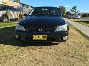 2002 Lexus IS200 GXE10R MY02 Sports Luxury Black Manual Sedan Ingleburn Campbelltown Area Preview