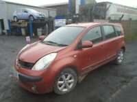 breaking for spares nissan note 2006 1.5 dci
