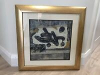 Picture 'Asian Vision I' with gold frame