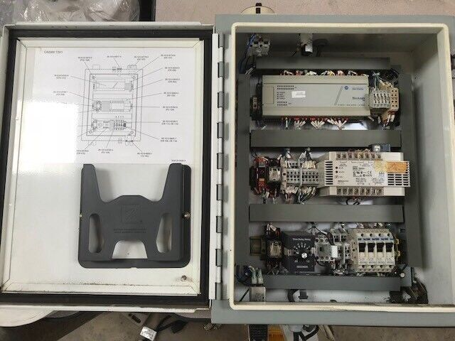 Electrical Enclosure Panel Allen Bradley Micrologix 1000 & Omron S82K-10024 ETC.