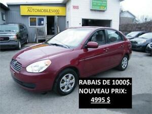 2011 HYUNDAI ACCENT, 125500 KM, AUTOMATIQUE,  AIR
