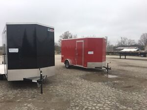 New 6x12 Plus 6 enclosed Ramp Door Trailer