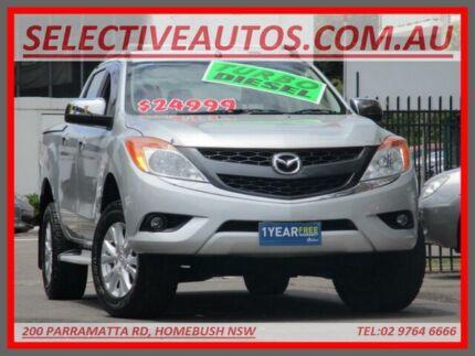 2011 Mazda BT-50 XTR (4x4) Silver 6 Speed Manual Dual Cab Utility Homebush Strathfield Area Preview