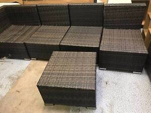 Outdoor Rattan Lounge Setting with coffee table (brown) Chelsea Kingston Area Preview