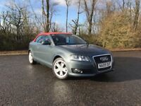 2009 AUDI A3 SPORT 2.0 TDI CONVERTIBLE GREY WITH RED ROOF 92,000 MILES MUST SEE £5995 OLDMELDRUM