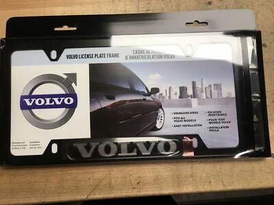Genuine Volvo License Plate Frame - Black - Volvo Logo 8640218