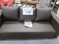 *****HALF PRICE*****brand new***** 3 seater brown,chocolate faux leather sofa *****