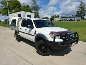 2011 Ford Ranger PK XL Crew Cab White 5 Speed Manual Cab Chassis