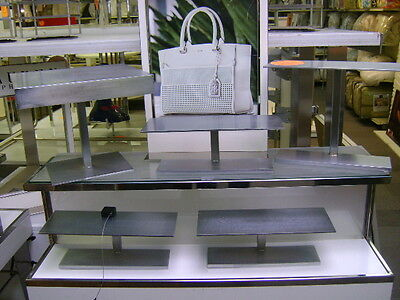 Retail Stainless Steel Finish Riser Base Display Stand