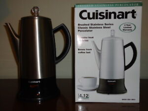 Cuisinart Brushed Stainless Steel Coffee Percolator - New!