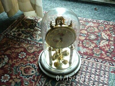 antique or vintage dome glass clock, made in germany spares or repairs.