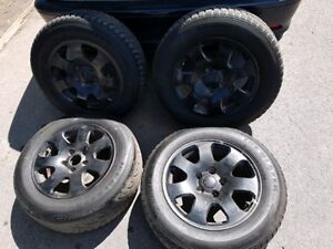 """Audi A4 15"""" Rims w/ tires + full sized spare."""