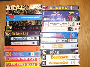 Over 100 vhs tapes, disney, John Wayne etc