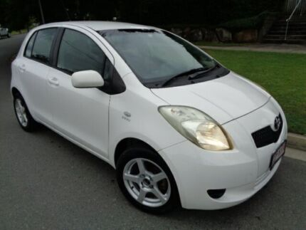 2007 Toyota Yaris NCP90R YR White 5 Speed Manual Hatchback