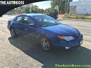 2003 Saturn Ion Coupe Uplevel CERTIFIED! LOW KM'S! GAS SAVER!
