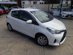 2014 Toyota Yaris NCP130R MY15 Ascent White 4 Speed Automatic Hatchback Sylvania Sutherland Area Preview
