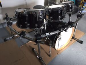 GIBRALTAR DRUM RACK WITH 7 CLAMPS AND  7 STAYS