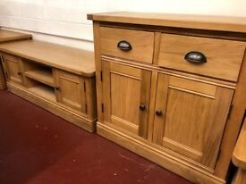 New Canterbury Solid Oak just arrived from £129 Nest, TV unit, tables Sideboards cupboards