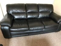 Two 3 seater leather sofas excellent condition
