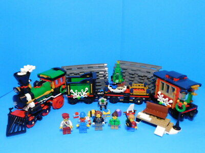 Lego Creator 10254 Winter Holiday Train Complete w/Instrucitons Christmas Train