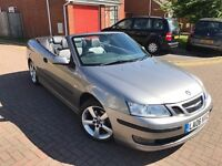 Saab 9-3 2.0 T Vector,2006*Convertible*2 OWNERS,SERVICE HISTORY,NEW MOT,HPI CLEAR,PARKING SENSORS