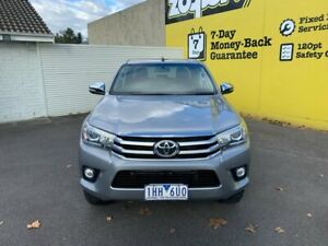 2016 Toyota Hilux GUN126R SR5 Double Cab Silver 6 Speed Sports Automatic Utility Invermay Launceston Area Preview