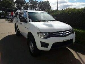 2010 Mitsubishi Triton MN MY11 GLX Double Cab White 4 Speed Automatic Utility Acacia Ridge Brisbane South West Preview