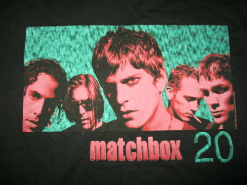 Vintage Giant Label 1997 MATCHBOX Twenty 20 Concert Tour (XL) T-Shirt Rob Thomas