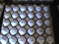 25 DUNLOP GOLF BALLS WITH MARKS 18P EACH