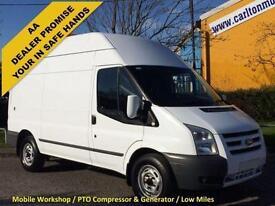2011 /61 Ford Transit T350M High Roof [ Mobile Workshop+PTO Compressor ] van