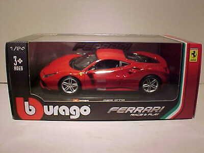 Ferrari 488 GTB Die-cast Sports Car 1:24 Bburango 8 inches Red