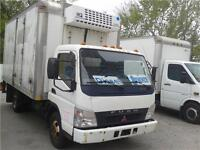 2007 Mitsubishi Fuso FE140 15 foot Cube, With Cooler EFC 6000.