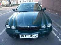 JAGUAR X TYPE 2.1 V6 SPORT SALOON 03 REG,, HALF LEATHER INTERIOR,, MOT APRIL 2018