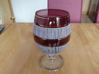 Riesen Cognacschwenker aus Kristallglas mit Goldrändern Dekoration Schmuckglas