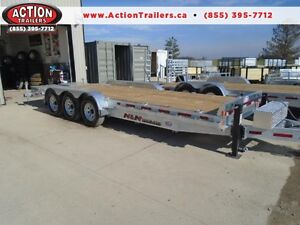 Triple axle Galvanized equipment trailer N&N CANADIAN MADE 21K